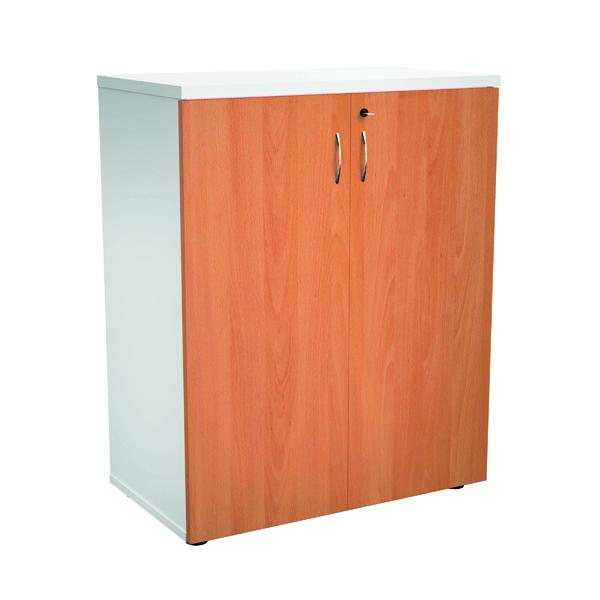 Jemini 1000 Wooden Cupboard 450mm Depth White/Beech