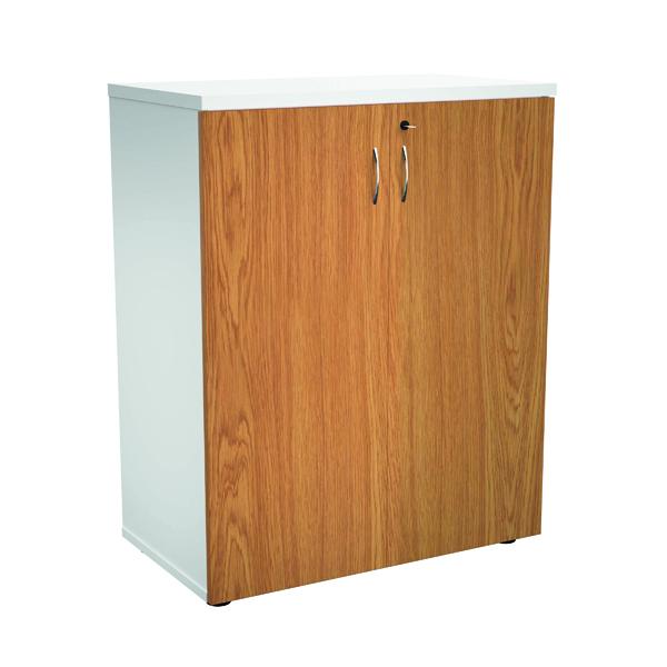 Jemini 1000 Wooden Cupboard 450mm Depth White/Nova Oak