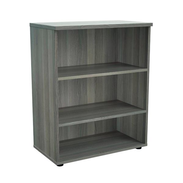 Jemini 1000 Wooden Bookcase 450mm Depth Grey Oak