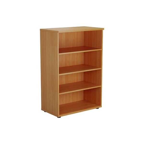 Jemini 1200 Wooden Bookcase 450mm Depth Beech