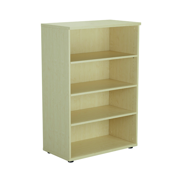 Jemini 1200 Wooden Bookcase 450mm Depth Maple
