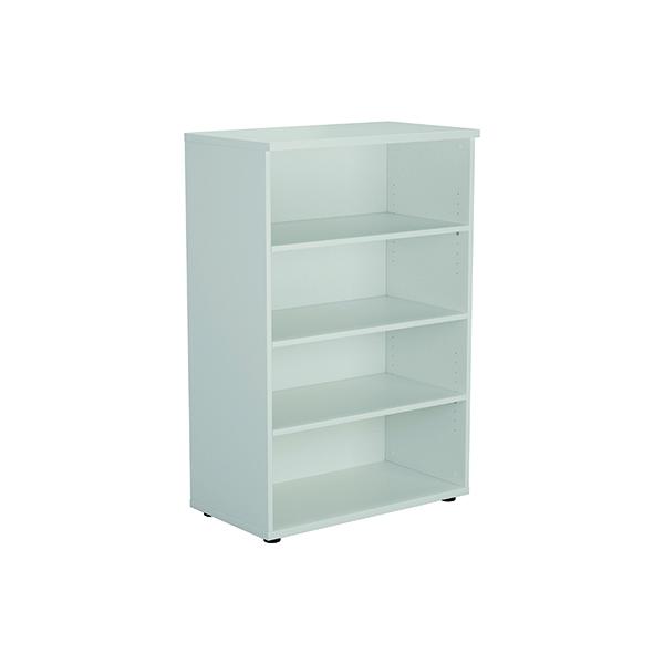 Jemini 1200 Wooden Bookcase 450mm Depth White