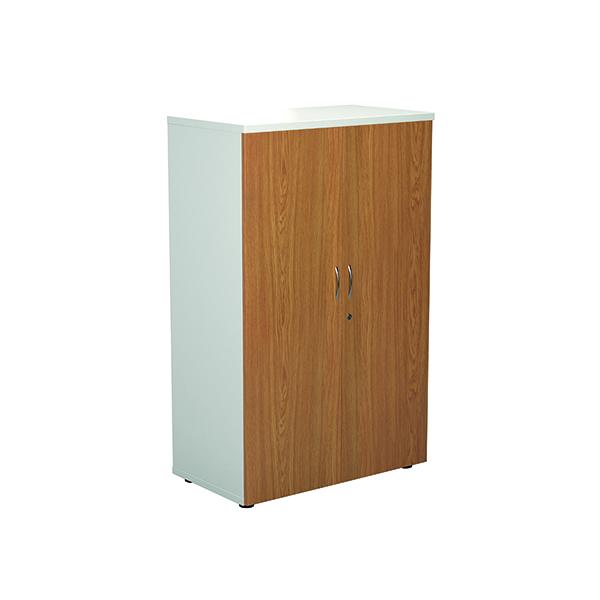 Jemini Wooden Cupboard 800x450x1600mm White/Nova Oak