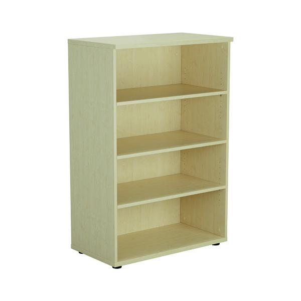 Jemini 1600 Wooden Bookcase 450mm Depth Maple