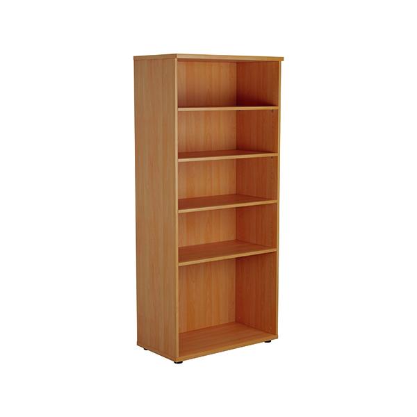 Jemini 1800 Wooden Bookcase 450mm Depth Beech