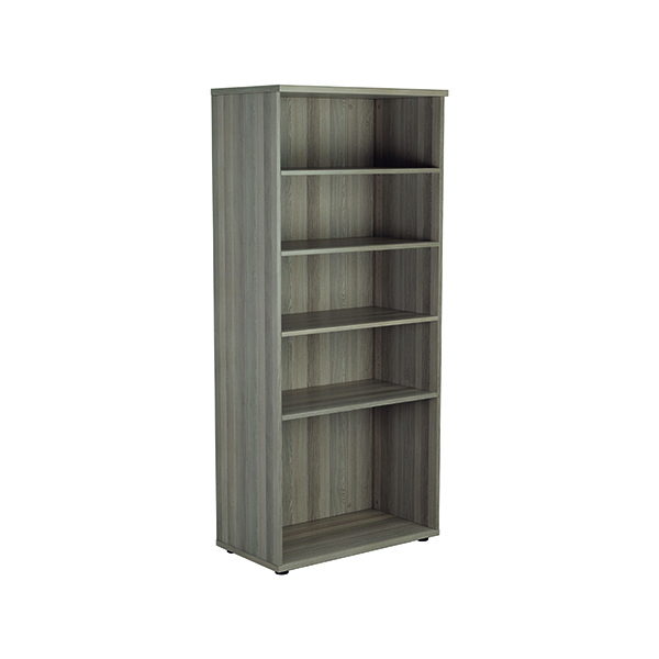 Jemini 1800 Wooden Bookcase 450mm Depth Grey Oak