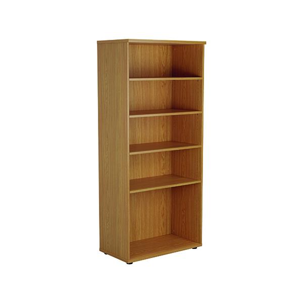 Jemini 1800 Wooden Bookcase 450mm Depth Nova Oak