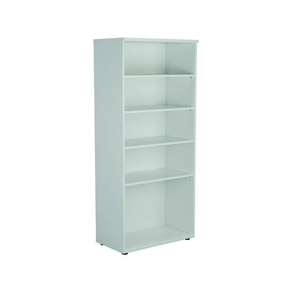 Jemini 1800 Wooden Bookcase 450mm Depth White