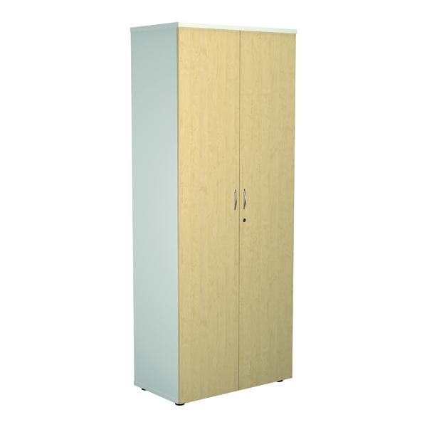 Jemini 2000 Wooden Cupboard 450mm Depth White/Maple