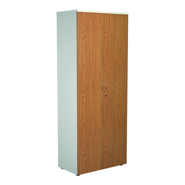 Jemini 2000 Wooden Cupboard 450mm Depth White/Nova Oak
