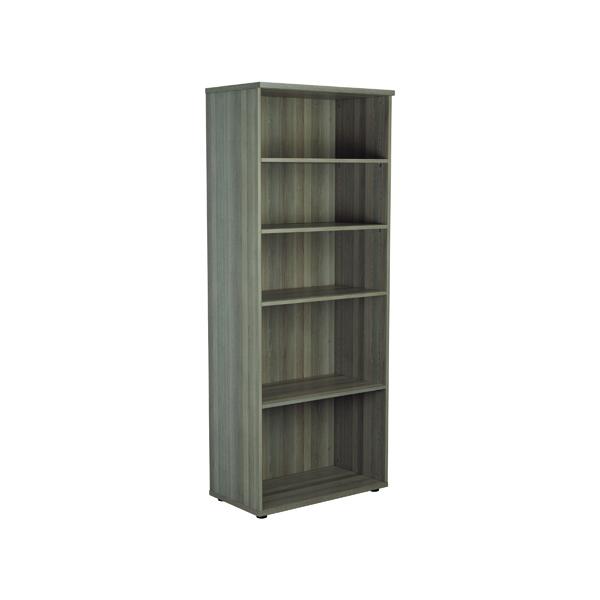 Jemini 2000 Wooden Bookcase 450mm Depth Grey Oak