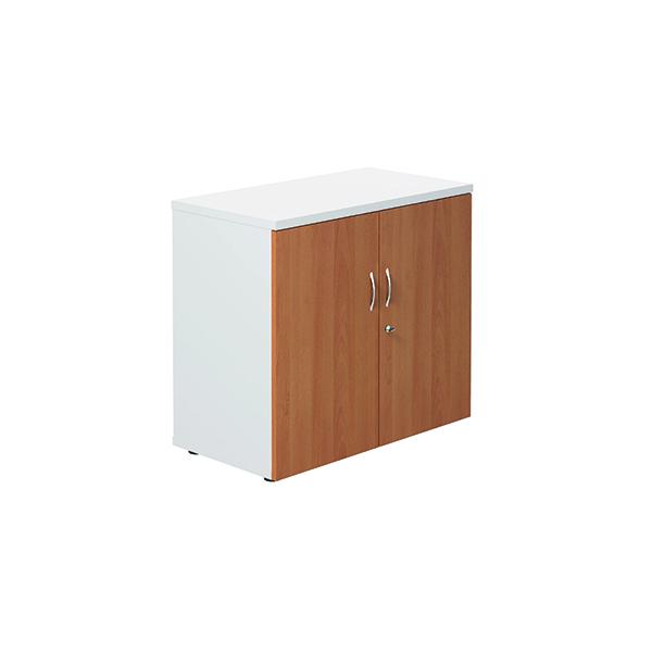 Jemini 700 Wooden Cupboard 450mm Depth White/Beech