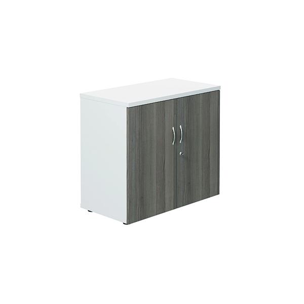 Jemini Wooden Cupboard 800x450x730mm White/Grey Oak