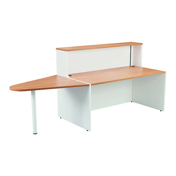 Jemini Reception Unit 1600mm with Extension Beech/White