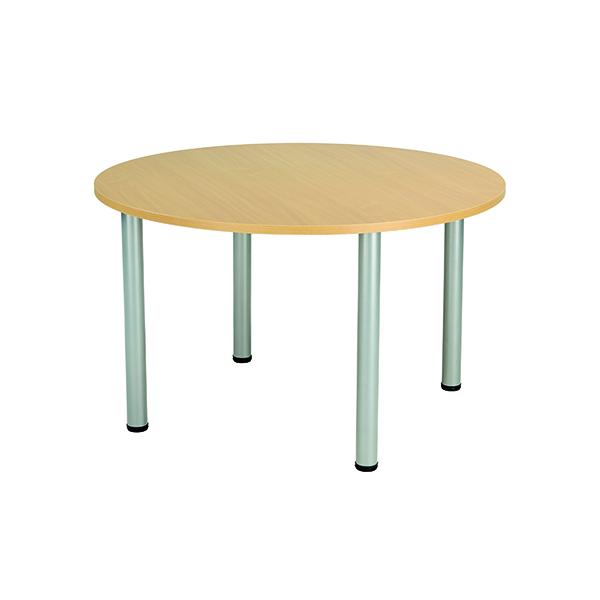 Jemini Circular Meeting Table Nova Oak