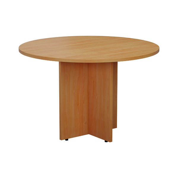 Jemini Round Meeting Table 1100mm Beech
