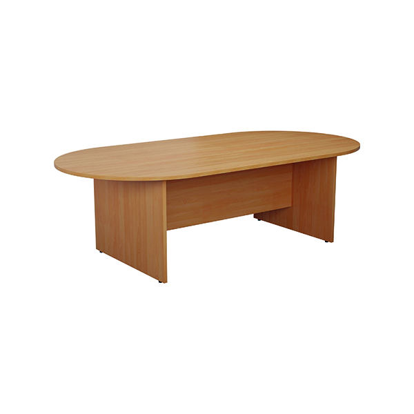 Jemini D-End Meeting Table 1800mm Beech