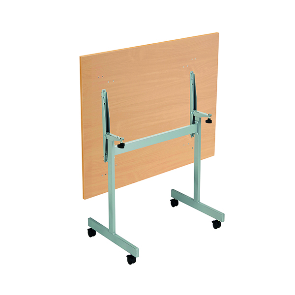 Jemini Rectangular Tilting Table 1200 x 700mm Beech/Silver