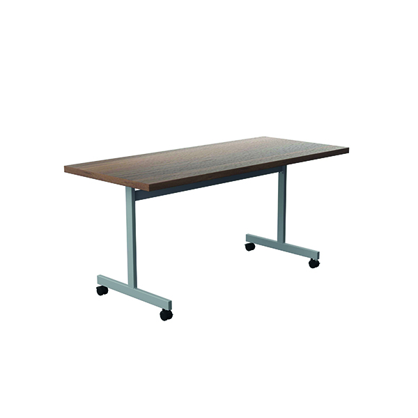 Jemini Tilting Table 1600 x 700mm Dark Walnut/Silver