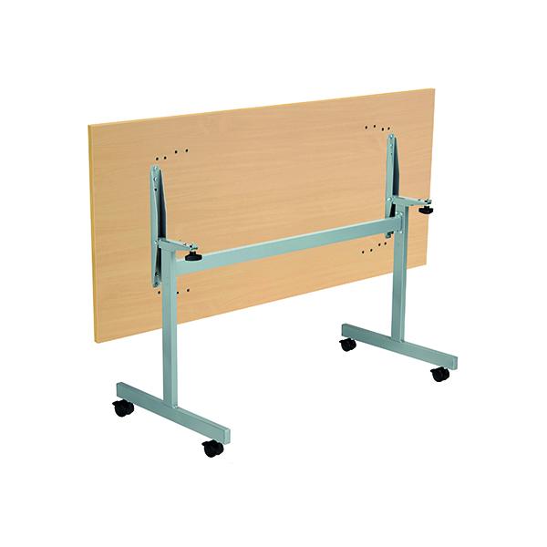 Jemini Rectangular Tilting Table 1600 x 700mm Nova Oak/Silver