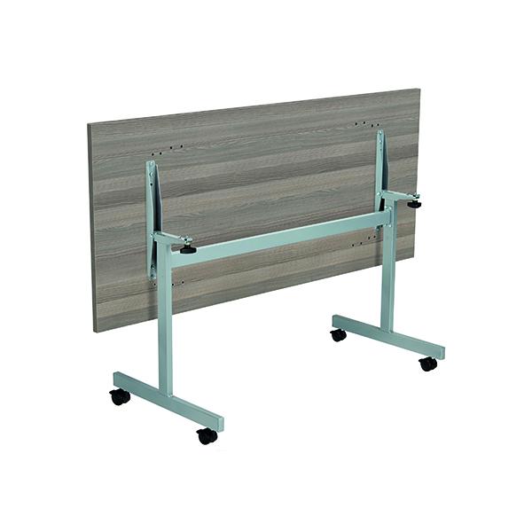 Jemini Rectangular Tilting Table 1800 x 800mm Grey Oak/Silver
