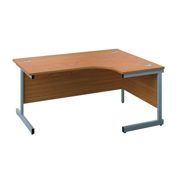 Jemini Right Hand Radial Desk 1200x1200mm Nova Oak/Silver
