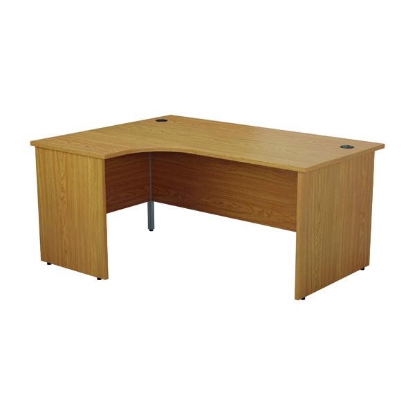 Jemini Left Hand Radial Panel End Desk 1200x1200mm Nova Oak