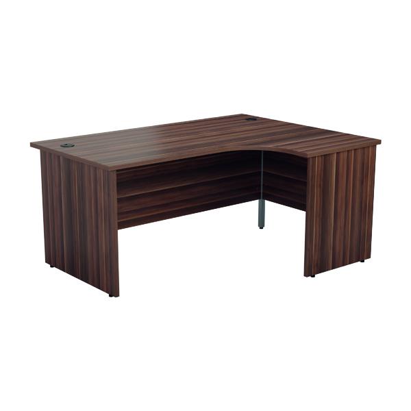 Jemini Right Hand Radial Panel End Desk 1200x1200 Dark Walnut