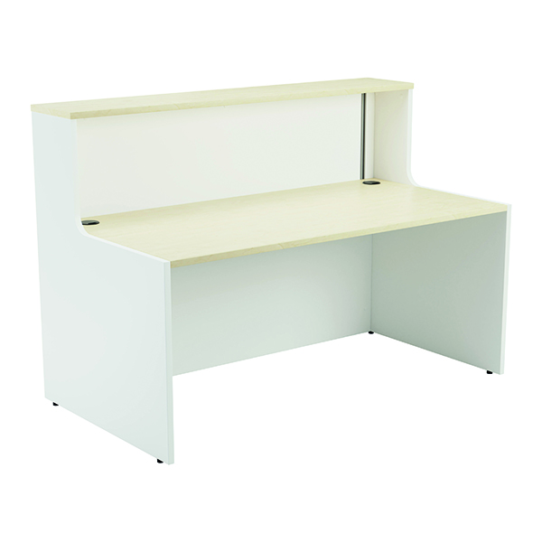 Jemini Reception Unit 1400mm Maple/White