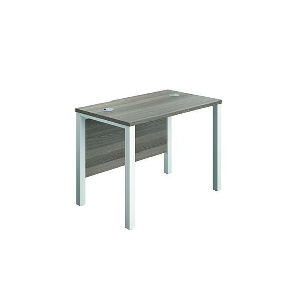 Jemini Goal Post Rect Desk 1000x600mmGrey Oak-White