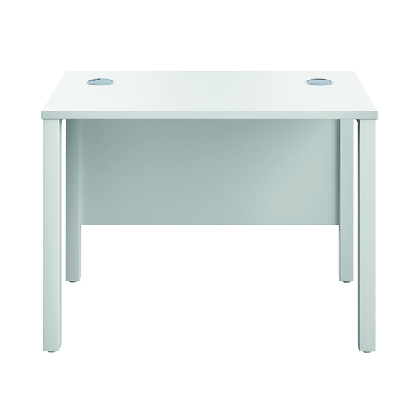 Jemini Goal Post Rectangular Desk 1000x600mmWhite-White GP1060RECWHWH