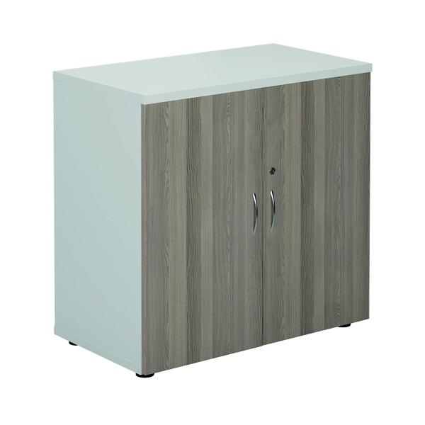 Jemini 800 Cupboard White/Grey Oak