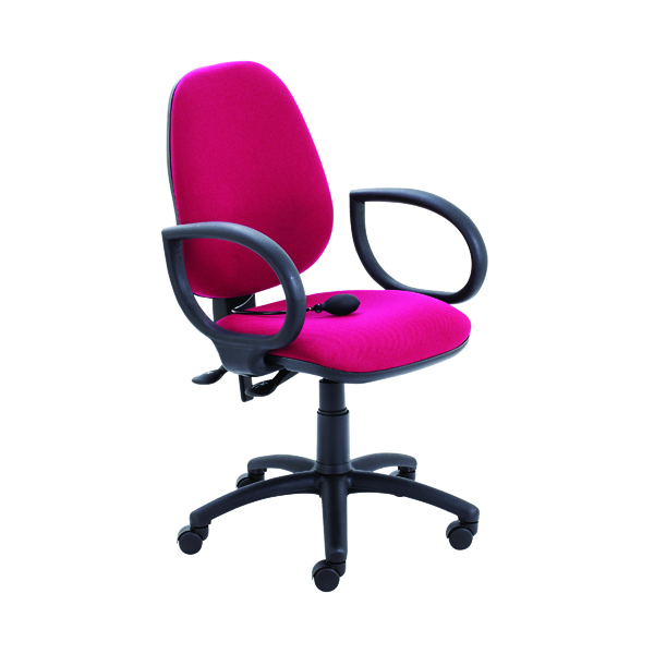 Jemini Intro High Back Posture Chair Fixed Arms Claret
