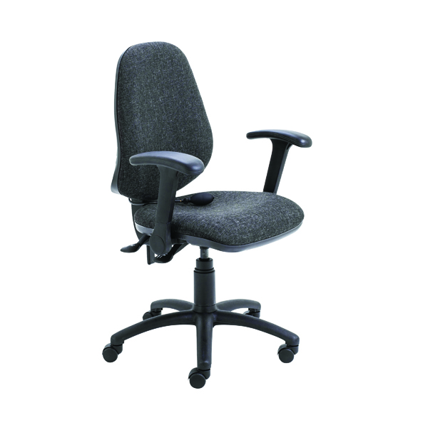 Jemini Intro High Back Posture Chair Folding Arms Charcoal