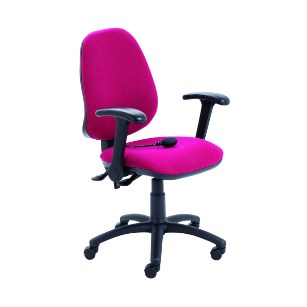 Jemini Intro High Back Posture Chair with Folding Arms 640x640x990-1160mm Claret