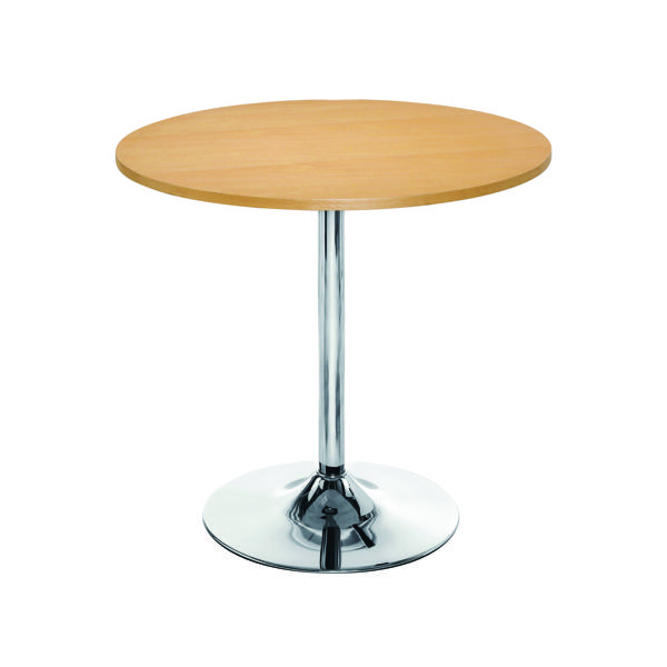 Image for Arista Beech/Chrome 800mm Small Bistro Trumpet Table KF838282