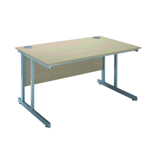 Image for Serrion Warm Maple 1200mm Rectangular Cantilever Desk KF838516