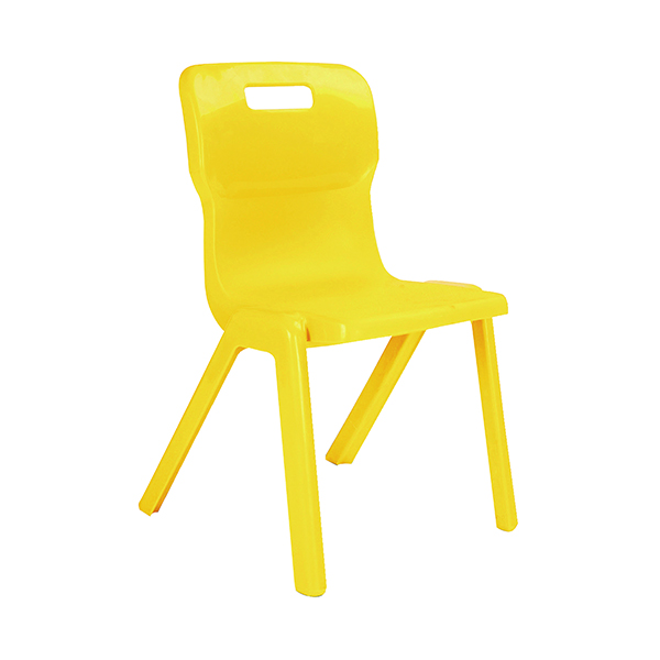 Titan One Piece Classroom Chair 480x486x799mm Yellow (Pack of 10)