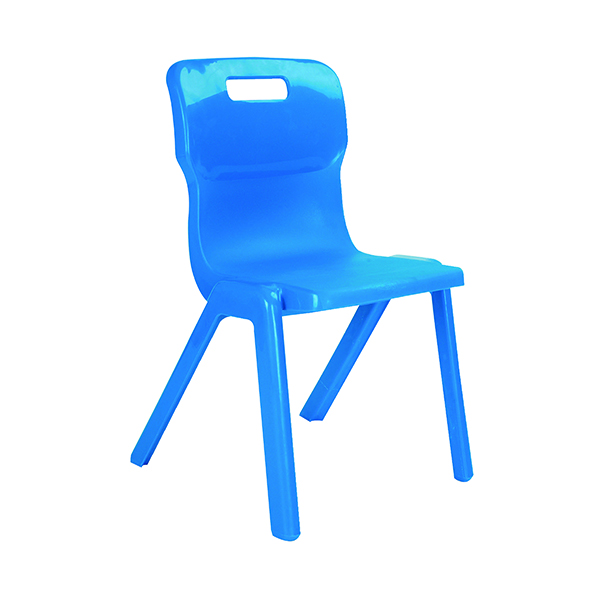 Titan One Piece Classroom Chair 363x343x563mm Blue (Pack of 10)