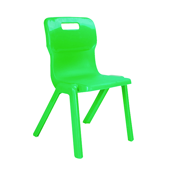Titan One Piece Classroom Chair 363x343x563mm Green (Pack of 10)