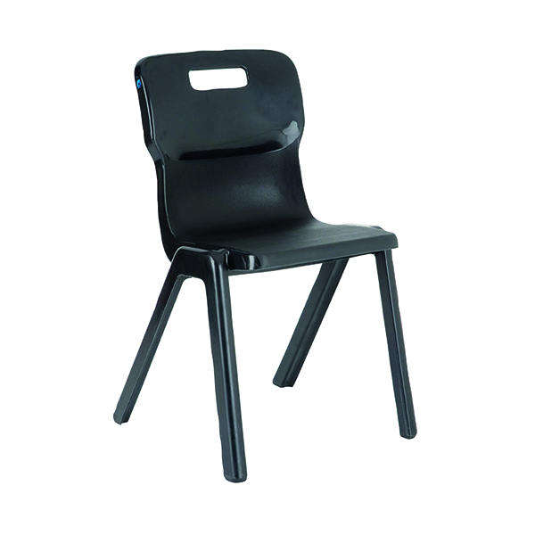 Titan One Piece Classroom Chair 363x343x563mm Charcoal (Pack of 30)