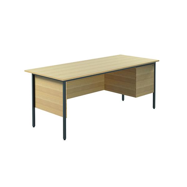 FF Serrion  4Leg Desk 2D Ped 1800 F Oak