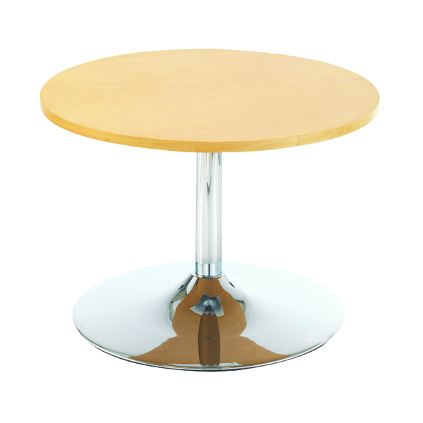 Arista Beech 800mm Low Bistro Table with Trumpet Base