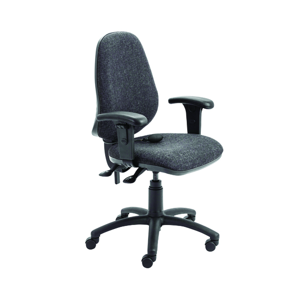 FR First High Back Posture Chair w/Adjustable Arms Charcoal