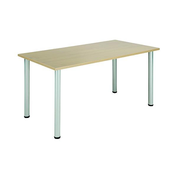 Jemini Maple 1200x800mm Rectangular Meeting Table