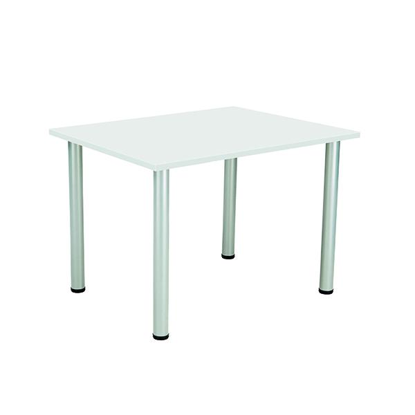 Jemini White 1200x800mm Rectangular Meeting Table