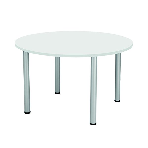 Jemini White 1200mm Circular Meeting Table