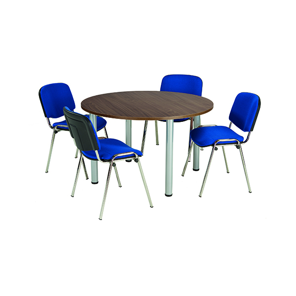 Jemini Walnut 1200mm Circular Meeting Table
