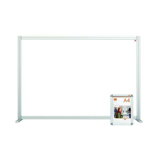Nobo Acrylic Modular Desk Divider 1400 x 1000mm Clear