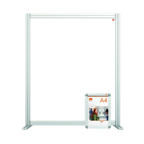 Nobo Modular Desk Divider Screen Acrylic 800x50x1000mm Clear